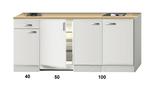 Keukenblok 190cm wit hoogglans incl 2-pit kookplaat HRF-4600