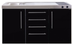 MPS4 150 Zwart metalic met koelkast en 4 ladekasten RAI-9538