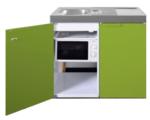 MKM 100 Groen met koelkast en losse magnetron RAI-9571