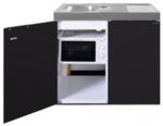 MKM 100 Zwart mat met koelkast en losse magnetron RAI-9575
