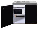 MKM 100 Zwart metalic met koelkast en losse magnetron RAI-9576
