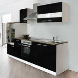 Keuken Zwart Hoogglans 270cm HUS-0998_