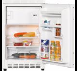 keukenblok 180 met koelkast, magnetron en 4-pit kramisch kookplaat en wandkasten_