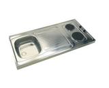 Minikeuken Wit 100x60 + RVS aanrechtblad en e-kookplaat RAI-199_