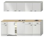 Keukenblok 240cm wit hoogglans incl inbouw apparatuur RAI-0132_