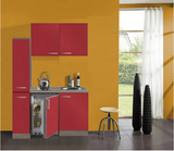 Kitchenette Rood 130cm met koelkast POTTO-641_