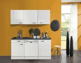 kitchenette 160cm wit hoogglans incl vatwasser en e-kookplaat_