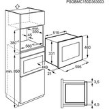 Zanussi inbouw magnetron ZSG25224XA_