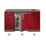 Kitchenette Rood Hoogglans 120cm met bovenkasten HRG-5345_