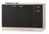 keukenblok Antraciet 130 cm incl spoelbak RAI-04837_