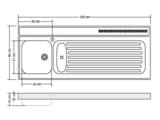 RVS aanrechtblad opleg 150cm x 60cm RAI-387_