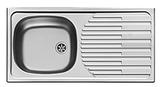 RVS aanrechtblad, spoelbak 860 mm x 435 mm RAI-30_