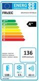 Vrijstaand koelkast 168-9A++ licht blauw_