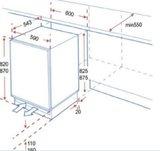 Mini Onderbouw koelkast met vriezer KS117.4A+UB RAI-032_