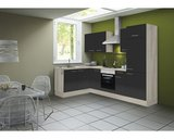 Hoek keuken Antraciet hooggland  270 cm incl. koelkast, oven, e-kookplaat en afzuigkap RAI-41002_