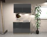 Keukenblok 100 cm Antraciet hoogglans RAI-1346_