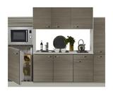 Keuken 240cm houtnerf incl koelkast, kookplaat en apothekerskast RAI-372_
