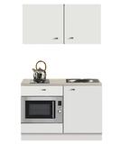 Kitchenette Lagos wit Hoogglans 120cm met onderbouw magnetron OPTI-110_