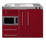 MPM 120 A Rood met koelkast, apothekerskast en magnetron RAI-9545_