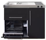 MPGS 120 Zwart mat met vaatwasser en koelkast RAI-9598_