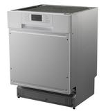 Kitchenette Faro Antraciet met koelkast en vaatwasser 210cm HRG-5385_