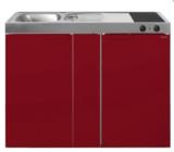 MK 120B Bordeauxrood met koelkast  RAI-9533_