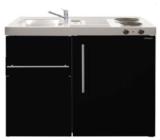 MK 90 Zwart Metalic mat met koelkast en een la RAI-9516_