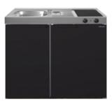 MK 90 Zwart mat met koelkast  RAI-9515_