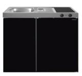 MK 90 Zwart Metalic mat met koelkast  RAI-9516_