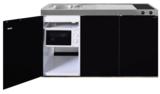 MKM 150 Zwart metalic met  losse magnetron en koelkast RAI-339_
