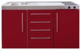 MPS4 150 Bordeauxrood met koelkast en 4 ladekasten RAI-9532_