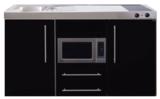 MPM 150 Zwart metalic met koelkast en magnetron RAI-957_