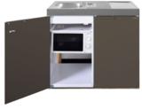 MKM 100 Bruin metalic met koelkast en losse magnetron RAI-9577_