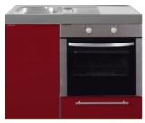 MKB 100 Bordeauxrood met  oven RAI-952_