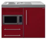 MPM 100 Bordeauxrood met koelkast en magnetron RAI-9513_