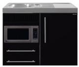MPM 100 Zwart metalic met koelkast en magnetron RAI-9518_