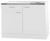 Keukenblok Klassiek 60 Wit met een la, RVS aanrecht 100 cm x 60 cm SPLSO106-6-42_