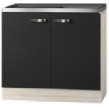 Keukenblok Faro Antraciet  100cm zonder wandkasten OPTI-3330_