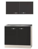 Keukenblok Faro Antraciet 100cm met rvs werkblad incl spoelbak RAI-020_