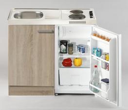 Keukenblok Neapel incl e-kookplaat en koelkast 100CM RAI-5286