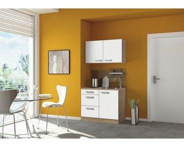 Mini-keuken COMPACT Turijn 100 cm White excl. e-kookplaat incl. spoelbak HRG-1229