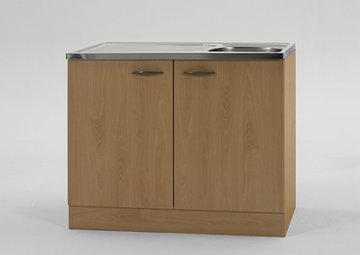Keukenblok Klassiek 60 Beuken met RVS aanrecht 100cm x 60cm SPL100-6-OPTI-68