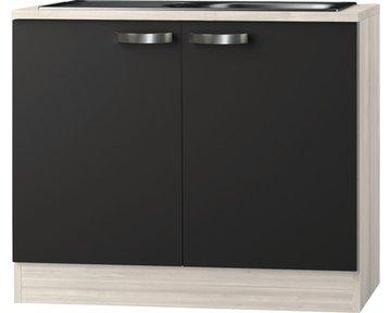 Keukenblok Faro Antraciet 100cm  HRG-0185