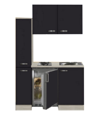 Kitchenette FARO 130cm met koelkast POTTO-641