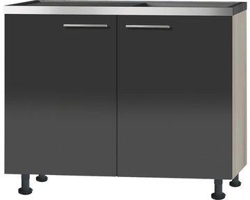 Keukenblok Antraciet hoogglns (BxHxT) 100,0x87,0x58,4 cm RAI-039