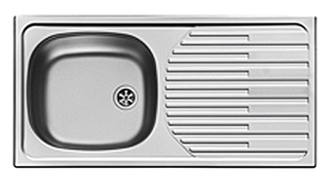 RVS aanrechtblad, spoelbak 860 mm x 435 mm RAI-30