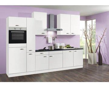 Keuken 310cm wit incl oven, koelkast, kookplaat en afzuigkap RAI-1649