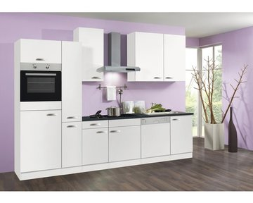 Keuken 310cm wit incl oven, koelkast, kookplaat, vaatwasser en afzuigkap RAI-1634