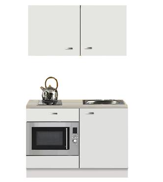Kitchenette Lagos wit Hoogglans 120cm met onderbouw magnetron OPTI-110