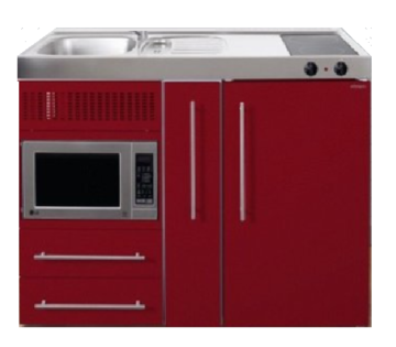 MPM 120 A Rood met koelkast, apothekerskast en magnetron RAI-9545